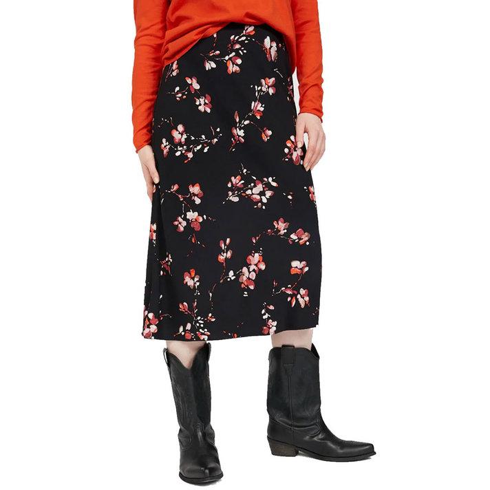 ARMEDANGELS Rok met bloemenprint vegan zijde * Devoraa flower batik *
