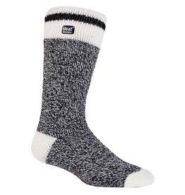 Heat Holders Men's Cream Block Twist Socks