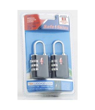 Safe Skies Aero Lock 3 Dial Double Set