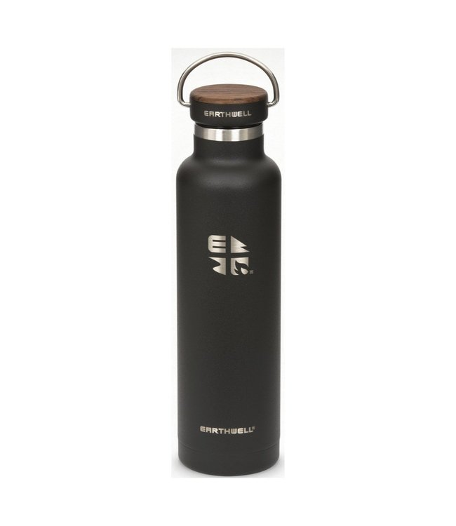 Earthwell Earthwell Vacuum Bottle 22oz w/Woodie Walnut Cap