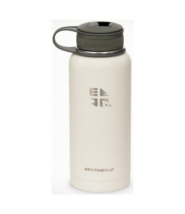 Eearthwell Earthwell Vacuum Bottle 32oz w/Foliage Green Kewler Opener Cap
