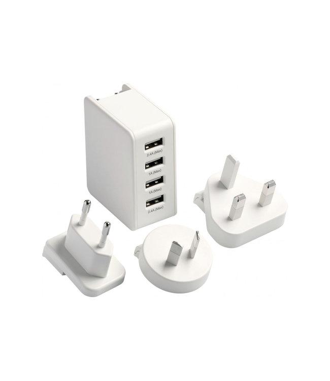 GO travel Go Travel Worldwide USB Charger (4 Port)