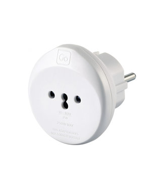 GO travel Go Travel Swiss-Euro Adaptor