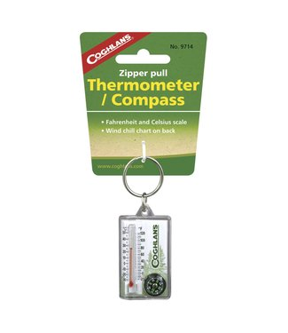 Coghlan's Coghlan's Zipper Pull Thermometer w/Compass