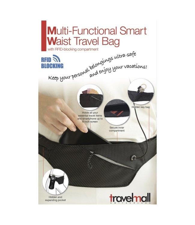 Travelmall Travelmall Multi-functional Smart Waist Travel Bag With RFID Blocking Compartment