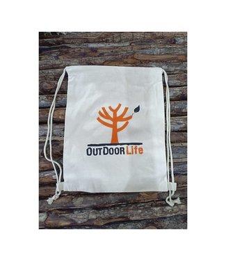OutdoorLife Logo Cotton Drawstring Bag