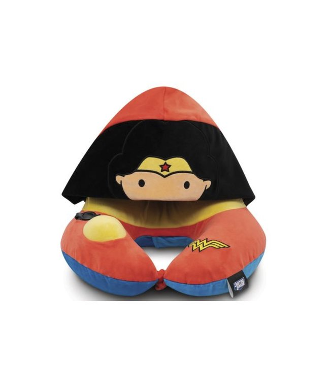 Justice League Kid's 3D Pump Pillow with Foldable Hood