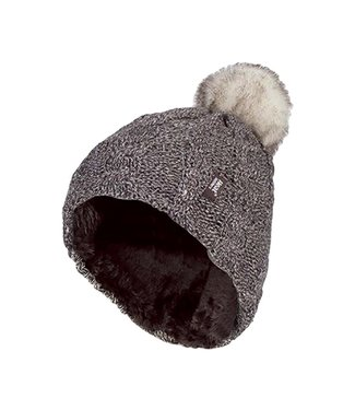 Heat Holders Heat Holders Women's Cable Turnover Hat With Pom Pom