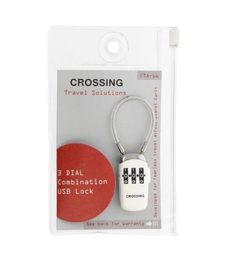 Crossing TSA 3 Dial USB Lock