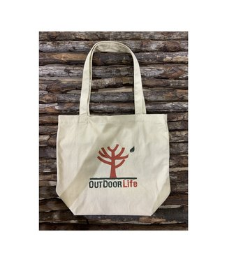 OutdoorLife Logo Cotton Tote Bag