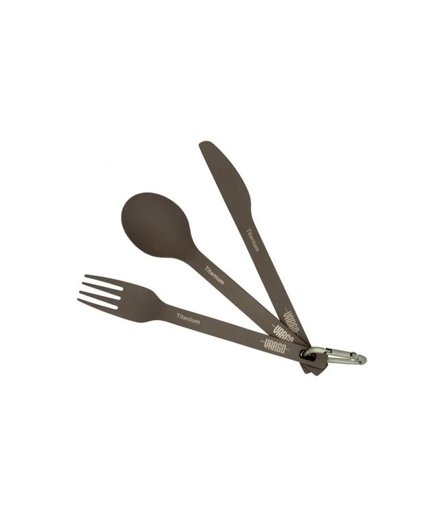 Vargo Vargo Titanium Spoon/Fork/Knife Set - Ultra Light Version