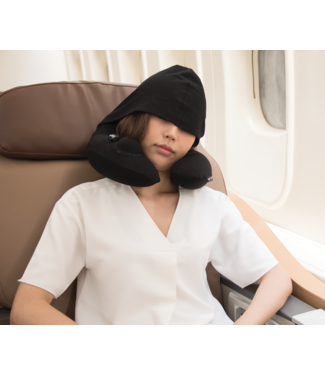 Travelmall Travelmall 3D Inflatable Neck Pillow with Hood