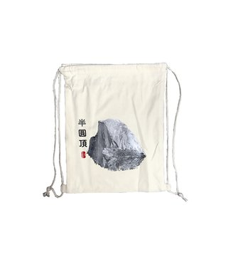 Half Dome Logo Cotton Drawstring Bag