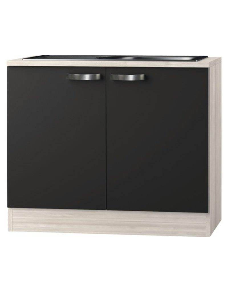 Keukenblok Faro Antraciet 100cm  KIT-0185