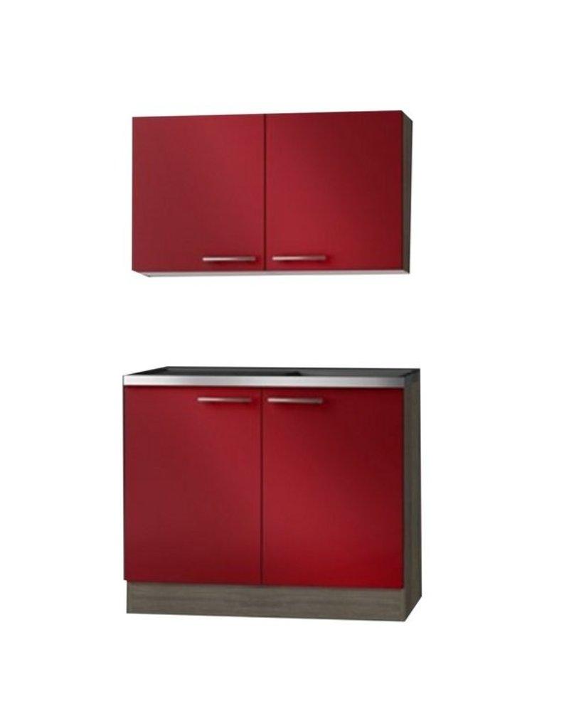 Imola keukenblok en bovenkast 100cm KIT-2103
