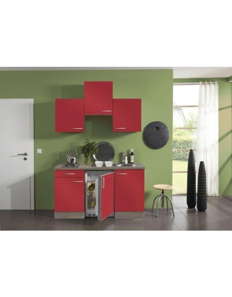 Kitchenette Imola Rood 150cm  KIT-43891