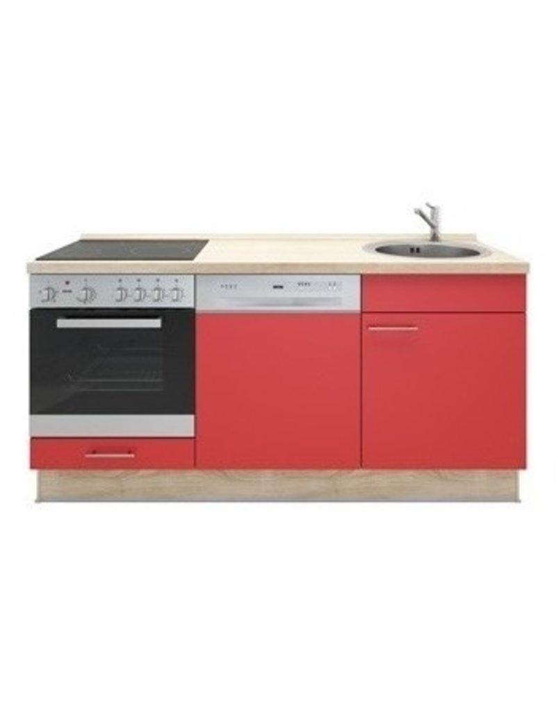 Keukenblok wit 180cm KIT-1099