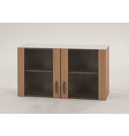 Bovenkast Beuken met glas,  100cm x 32 cm O500-6-KIT-37