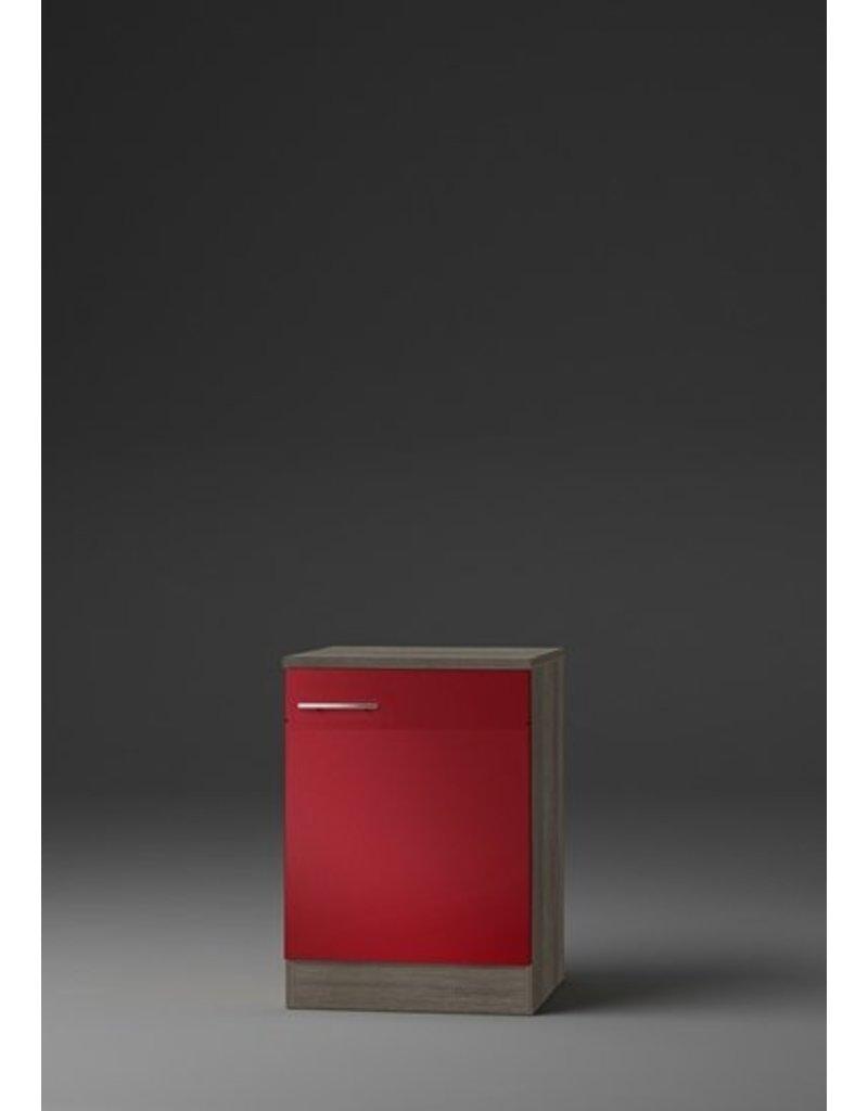 Kabinet Imola signaal rood satijn (BxHxD) 50,0x84,8x60,0 cm KIT-193