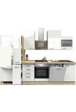 Keuken incl e-Kookplaat + koelkast met vriezer + vaatwasser + Apothekerskast  310 cm lang KIT-1649