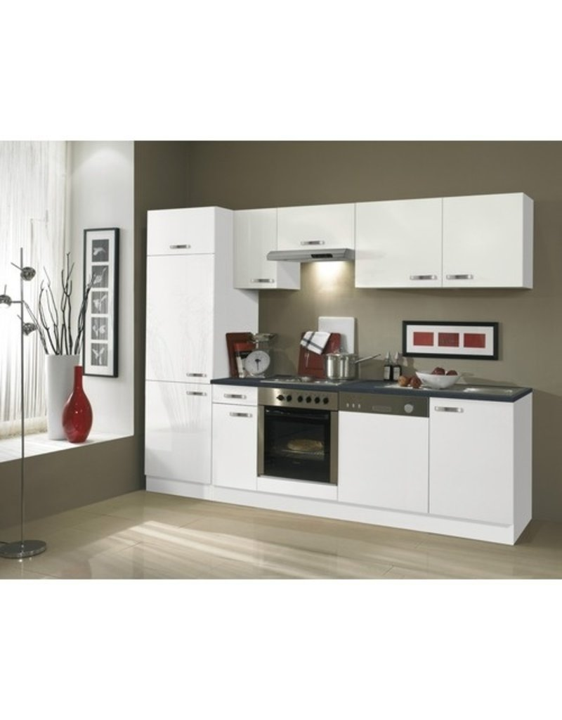 Keuken Lagos hoogglans wit 270cm KIT-126