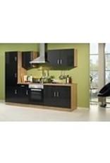 Kitchenette incl e-Kookplaat + Oven + afzuigkap + koelkast 270cm lang KIT-71350