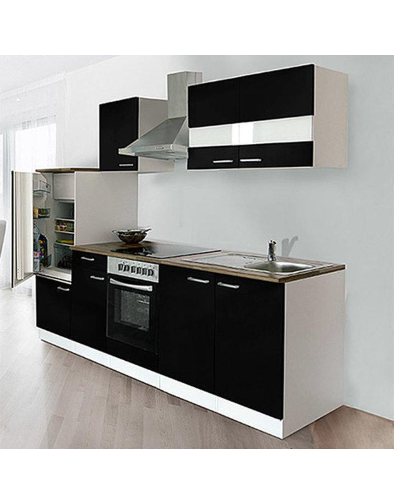 Keuken Zwart Hoogglans 270cm HUS-0998
