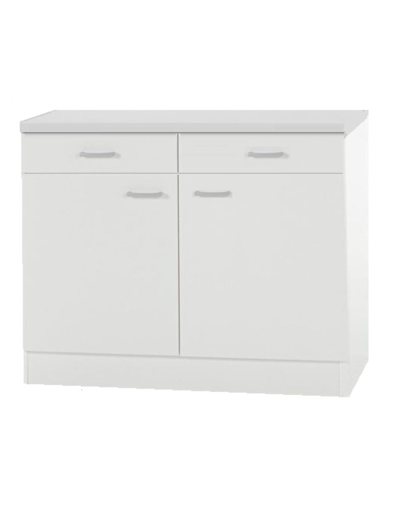 Onderkast wit (bxhxd) 100x85x50 cm KIT-55