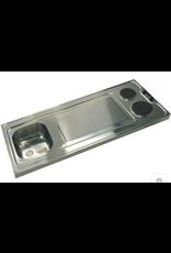 2-pit Aanrechtblad 100cm x 60cm met spoelbak en  e-kookplaten KIT-180
