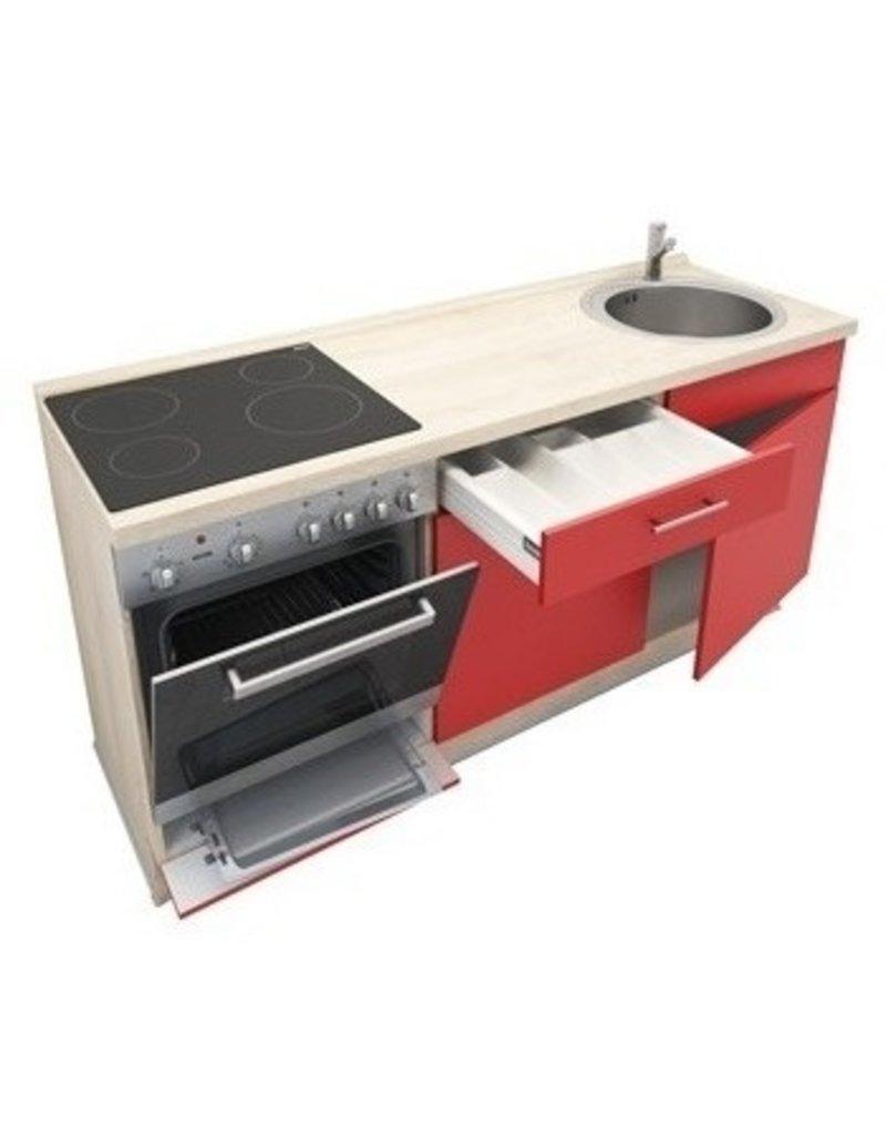 Keukenblok Rood 180cm KIT-799