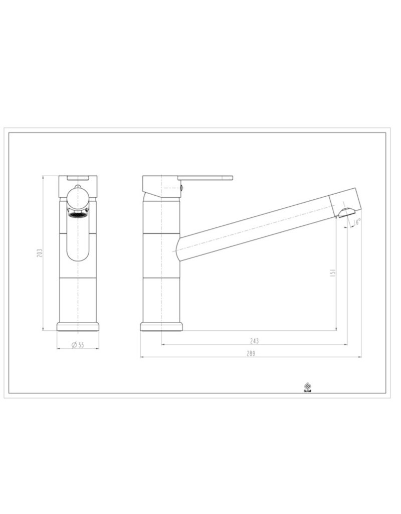 UNICORN ééngreepsmengkraan keuken, chroom KIT-80