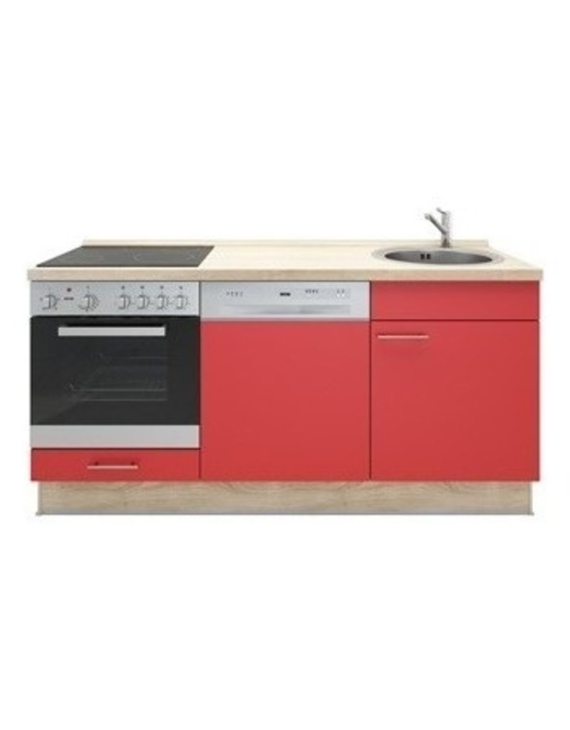 Keukenblok Rood 180cm KIT-1099