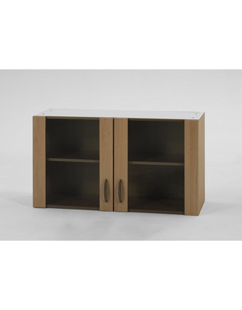 Bovenkast Klassiek 60 Beuken met glas, 100cm x 35 cm Beuken O500-6-KIT-42