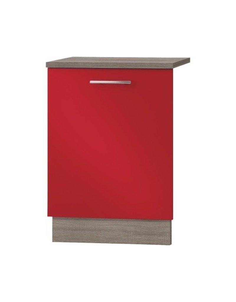 Kabinet Deur voor vaatwasser Imola signaal rood satijn (BxHxD) 59,6x70,0x1,6 cm KIT-775