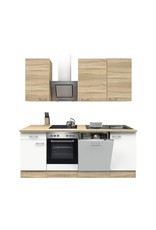 Keuken Sonoma Oak Wit 220cm KIT-1099