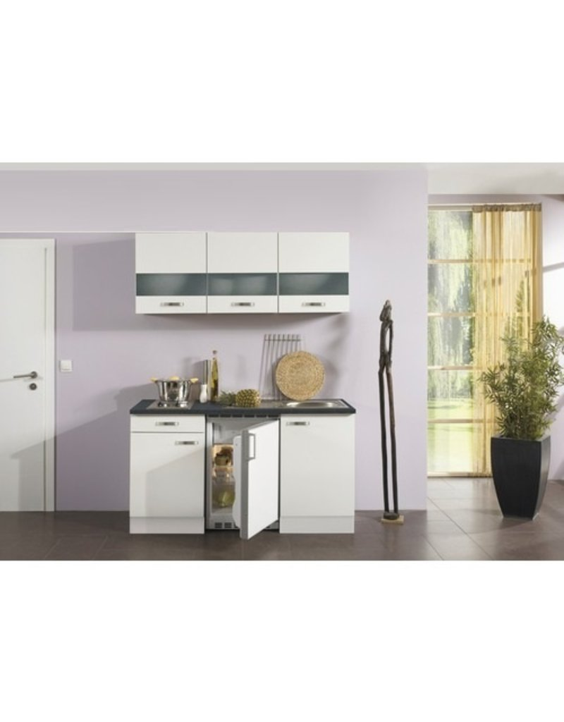 Kitchenette Lagos wit hoogglans 150cm KIT-125
