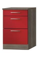 Kabinet Imola signaal rood satijn (BxHxD) 60,0x84,8x60,0 cm KIT-5125