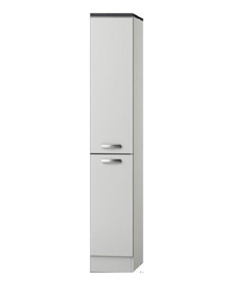 Apothekerskast wit hoogglans met 4 laden 174 cm hoog KIT-798
