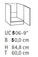 Spoelonderkast 50cm SPLO506-9