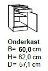 Onderkast 60cm UO306-9