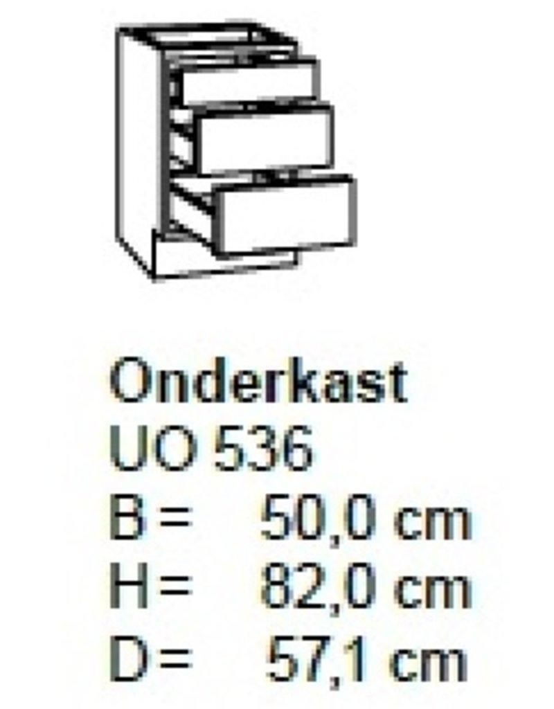 Onderkast 50cm met 2 uittreklades + 1 lade UO536-9