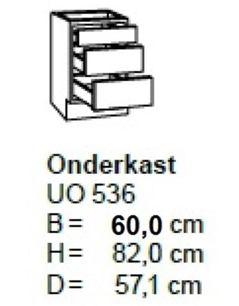 Onderkast 60cm met 2 uittreklades + 1 lade UO636-9
