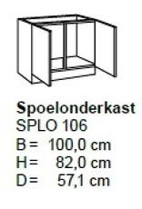 Spoelonderkast 100cm SAPLO106-9