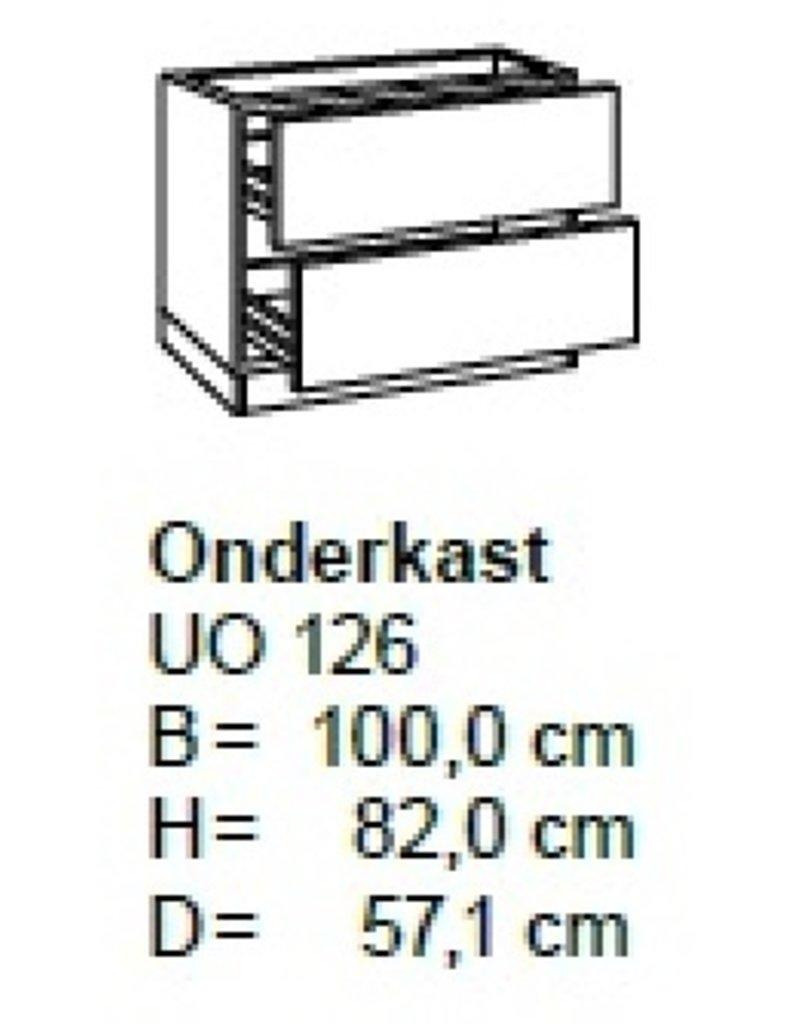 Onderkast 100cm met 2 uittreklades UO126-9