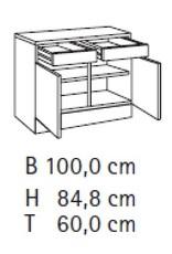 Buffetkast 100cm