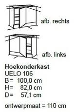 Hoekonderkast 100 cm