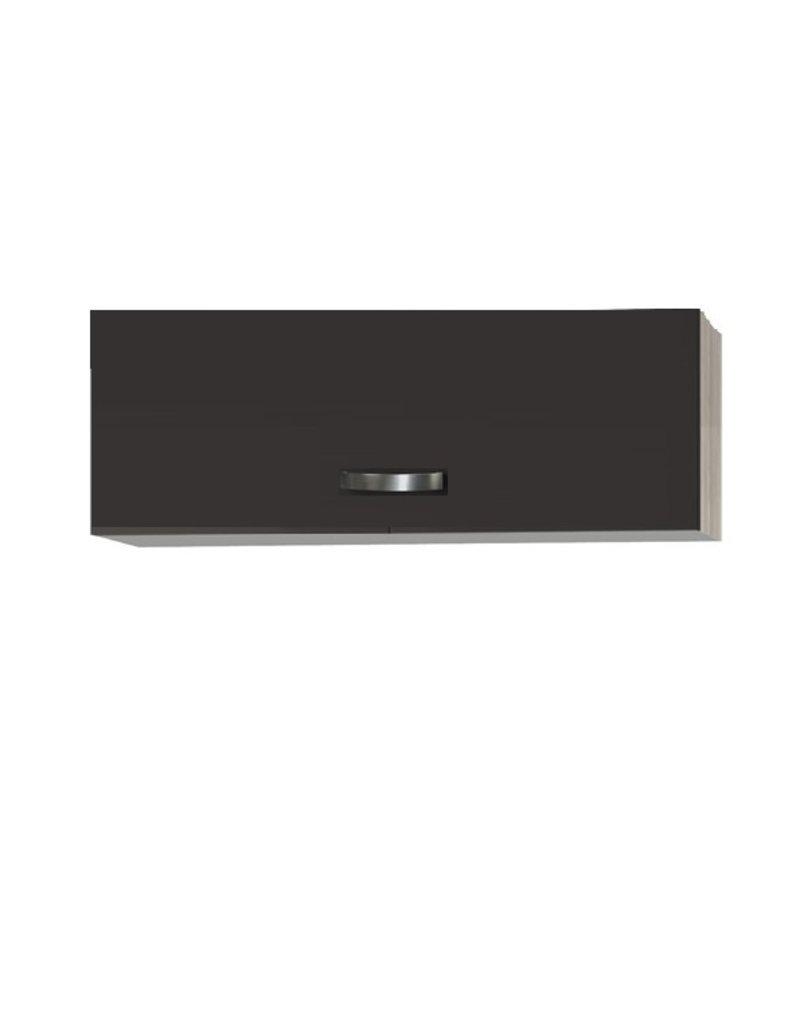 Keukenblok Faro Antraciet  100cm met klap wandkast KIT-0103