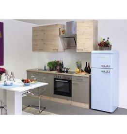 Keuken Riva licht eiken 220cm KIT-1139