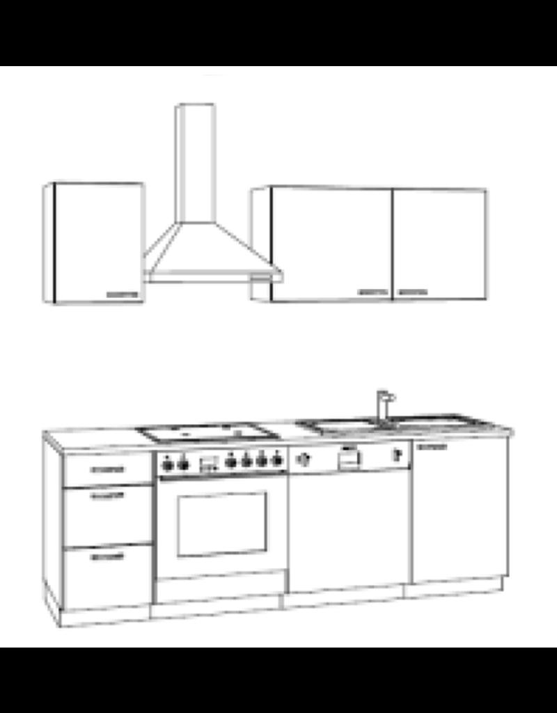 Keuken module 210 cm, incl. elektr. apparaturen KX214E-9