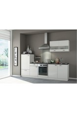 Kitchenette 270 cm Hoogglans wit incl. Inbouwapparatuur KIT-225